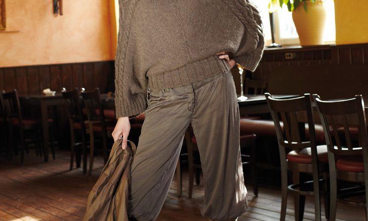Denevérujjú pulóver leírás
