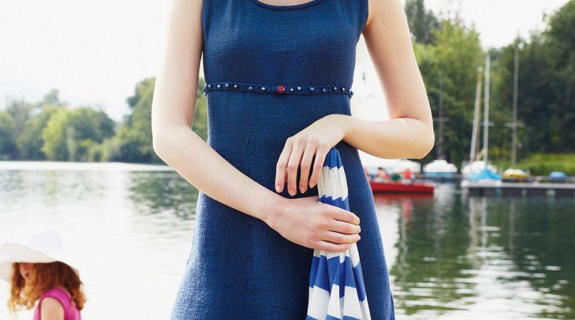 Kék nyári tunika- leírás