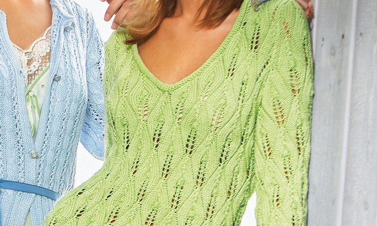 Zöld női pulóver - leírás és mintarajz- 73 PDF