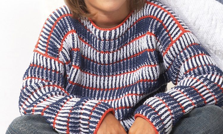 Fiú pulóver 3 színből- leírás és szabásminta