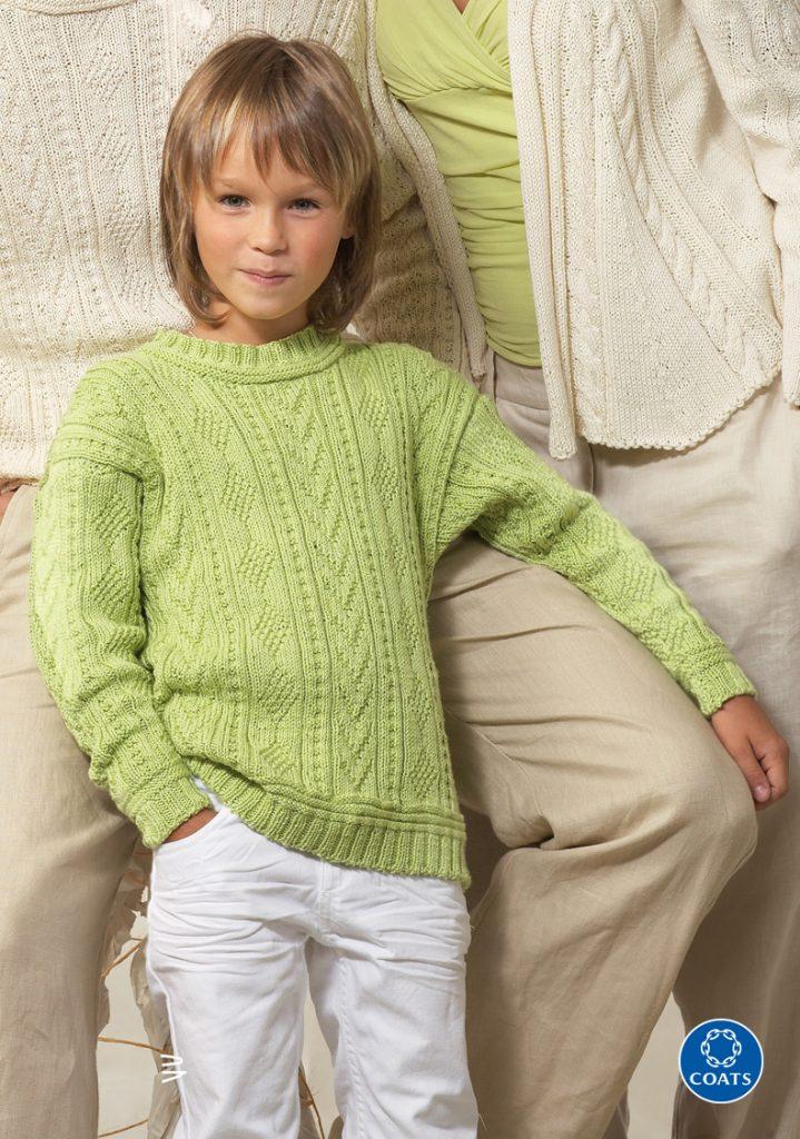 Hárszöld fiú pulóver- minta és leírás 410 PDF