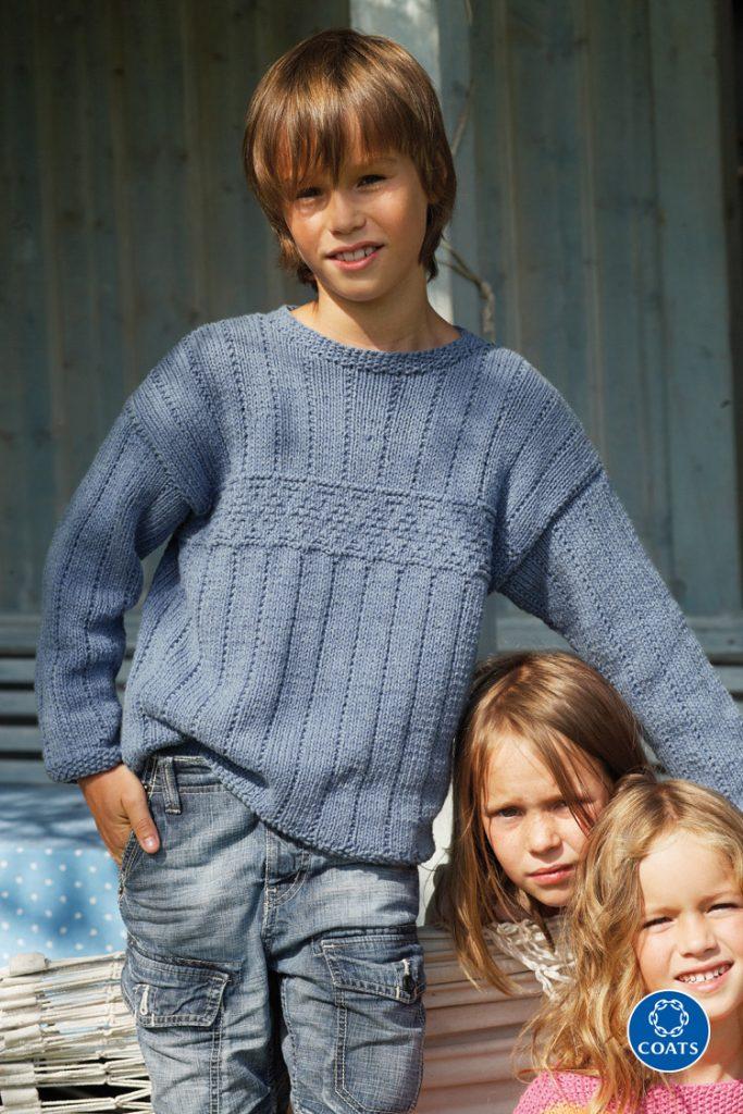 Kék fiú pulóver Punto fonalból-293 PDF