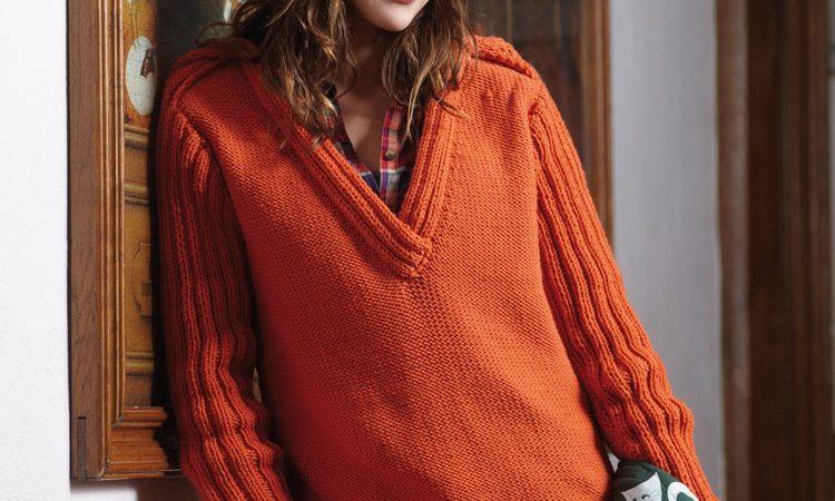 Narancssárga női pulóver és sapka - 564 PDF