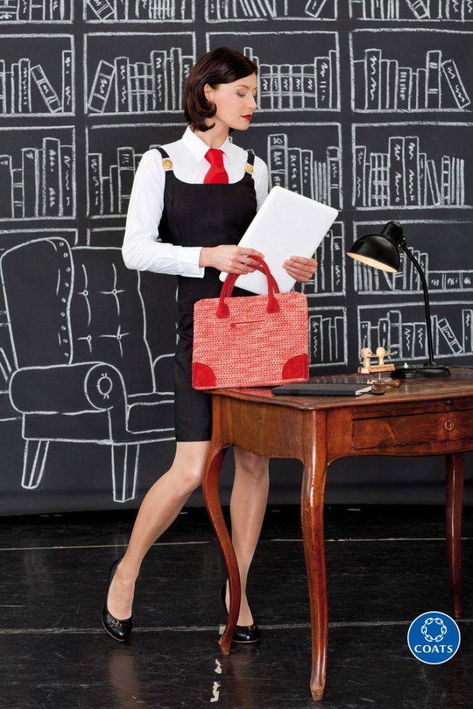 Piros laptop-táska leírása