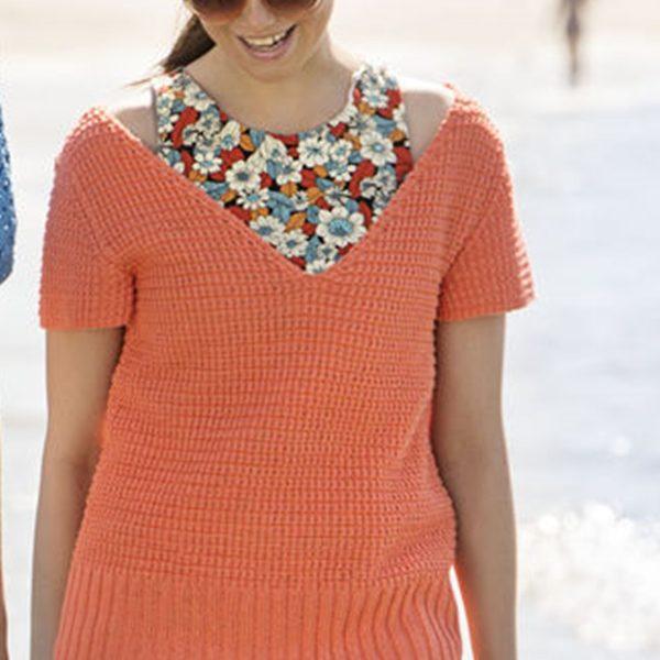 Korallszínű női pulóver 812 PDF