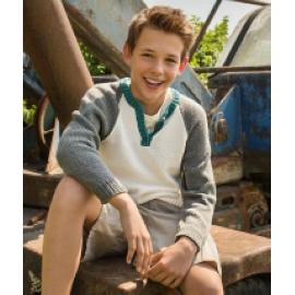 832 Henley stílusú fiú pulcsi
