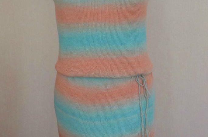 1d86a54b5d Kötött ruha Tahiti fonalból, elkészítési leírással lana blogjában