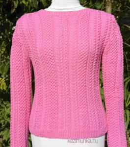 csavart mintás pulóver kötése