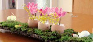 húsvéti asztali dísz