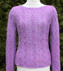 azsúr mintás kötött pulóver