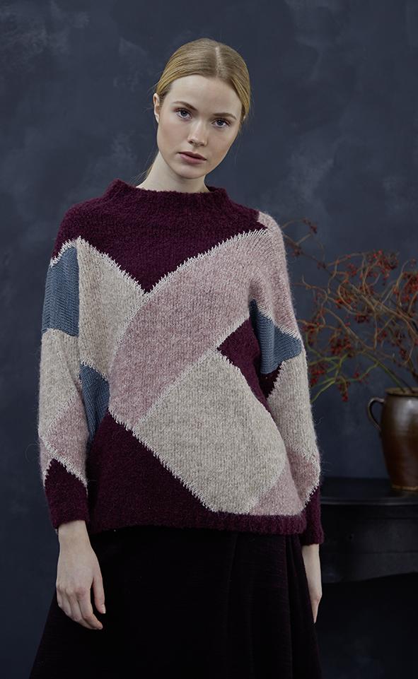 Intarziás pulóver.