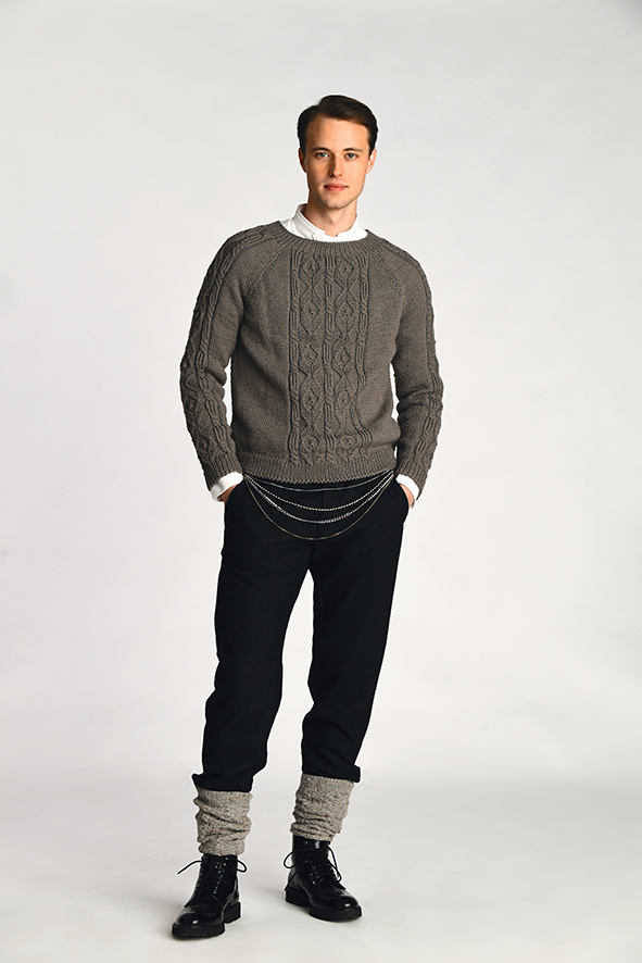 Férfi raglán pulóver
