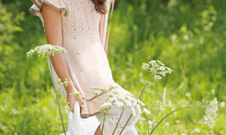 Kislány ruha Cotton Eco fonalból minták
