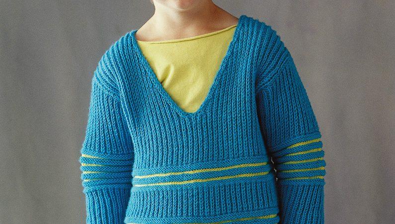 Csíkos pulóver fiúknak- leírás és minta 501 PDF