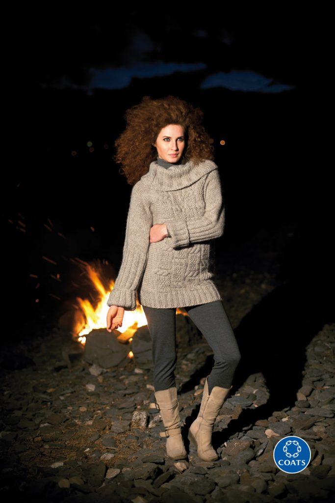 Vastag női pulóver leírása