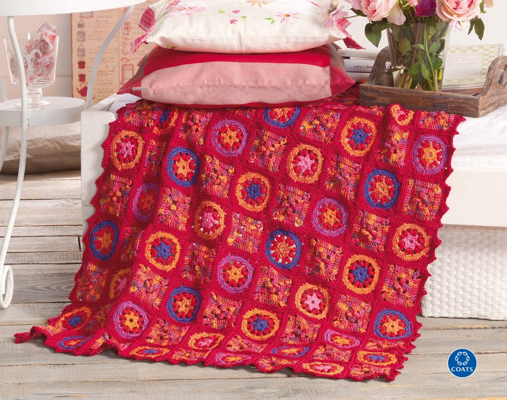Horgolt patchwork takaró- minták