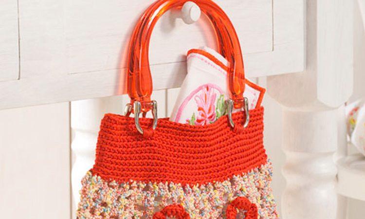 Virágos horgolt táska- mintaleírás