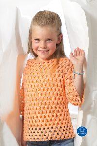 Narancssárga pulóver kislányoknak
