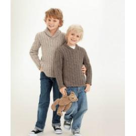 833 Bordás mintás fiú pulóver