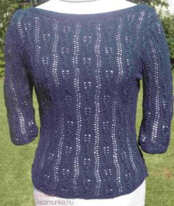 csipkemintás pulóver