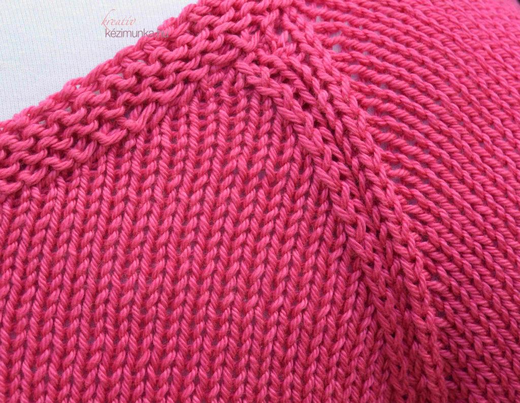 raglán ujjú kötött női pulóver