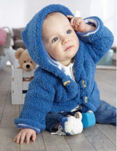 kötött baba kabát