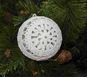 horgolt karácsonyfa dísz